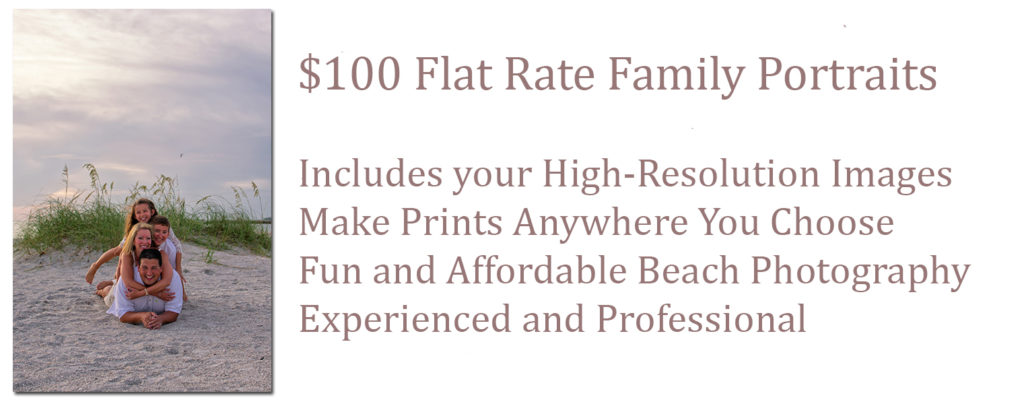 Clearwater Beach Photography Family Portrait Sessions only $100
