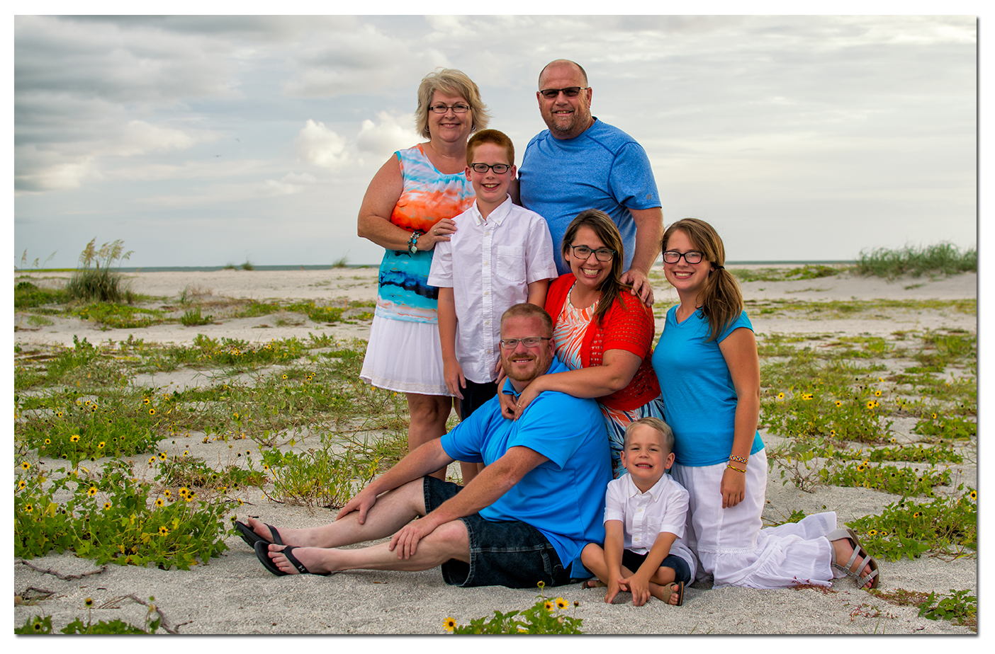 Fun Family Portraits at Clearwater Beach