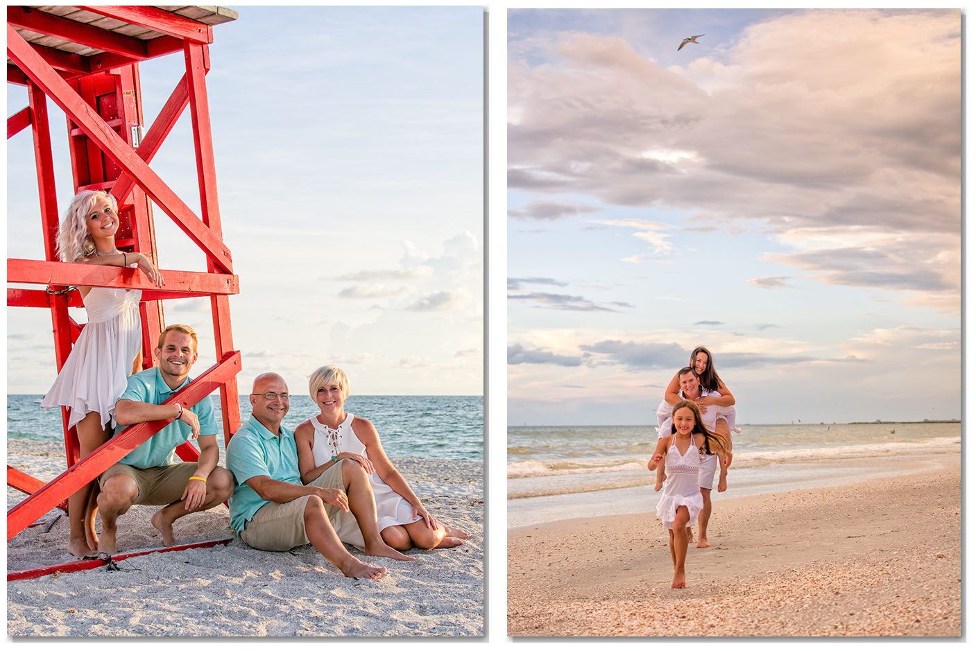 Clearwater beach photographer vacation family portraits